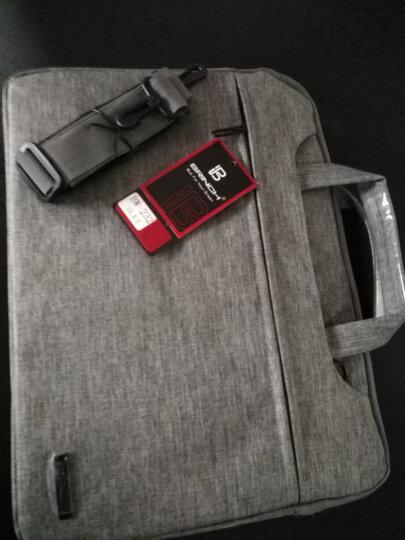 BRINCH 英制电脑包13.3英寸苹果Air联想小米华为华硕戴尔笔记本内胆包保护套手提单肩商务休闲 BW-232灰色 晒单图