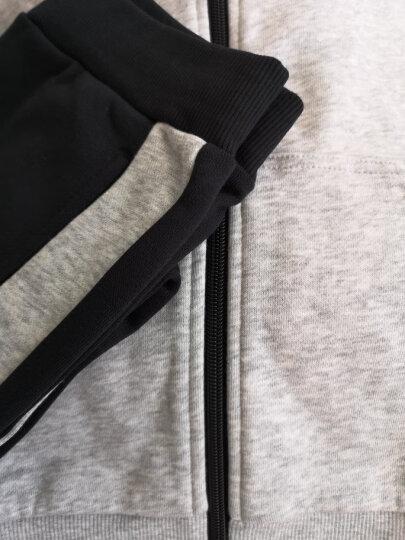安踏童装男 童装套装儿童长袖连帽针织运动外套兄妹款 连帽两件套装35714705 女款杜鹃粉-3 140cm 晒单图