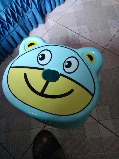 龙士达(LONGSTAR)塑料儿童凳子小板凳 浴室加厚防滑小矮凳子 LH-023蓝色 晒单图