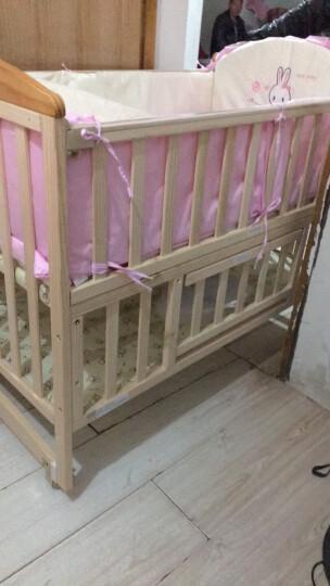 呵宝(HOPE)婴儿床实木无漆多功能宝宝床摇篮床新生儿拼接床bb床幼儿童床 918PLUS款+床品6件套(包含棉被)+床垫 晒单图