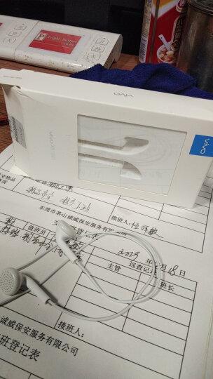 【vivo官方原装】耳机手机耳塞X21X20X23X9x27 plus vivoy67y66z3z1 灰白色 带话筒重低音 晒单图
