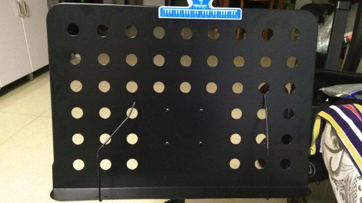 SOU 谱台乐谱架子 专业加粗可升降折叠乐谱台小提琴吉他古筝二胡通用便携谱架 蓝色标准款( 带谱台包) 晒单图
