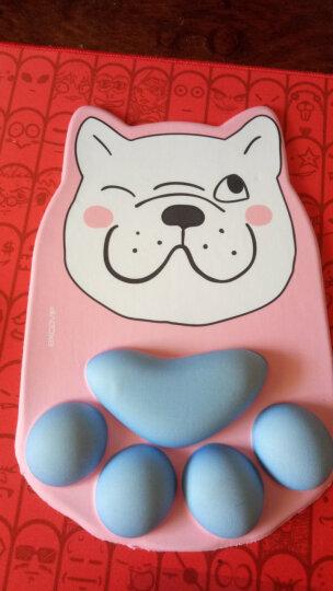 宜适酷(EXCO)笑笑兔记忆棉鼠标垫 护腕大号 加厚 可爱卡通动漫游戏垫  MSP011 晒单图