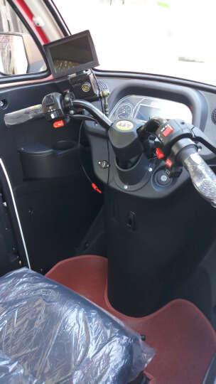NLIGHT 恩莱德N100全封闭电动三轮车老年休闲代步车 三人座接送孩子雷霆皇款赠送倒车影像和风扇 三色红 中续航(1组6032铅酸电池) 晒单图
