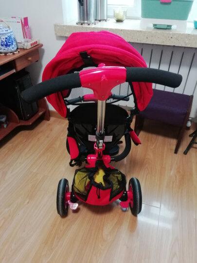 小虎子儿童三轮车脚踏车自行车溜娃神车可折叠遛娃车小孩手推车1-3岁T300升级 珊瑚红(无货) 晒单图