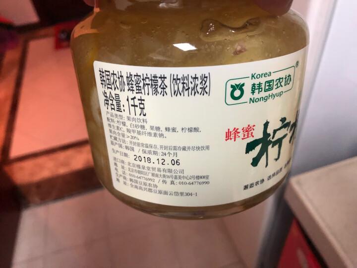 韩国进口 韩国农协 蜂蜜红枣茶1000g 晒单图