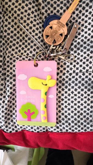 立体卡通公交卡套 交通卡夹 证件套 可爱门禁卡套 便携式钥匙扣 硬卡包 粉色长颈鹿 晒单图