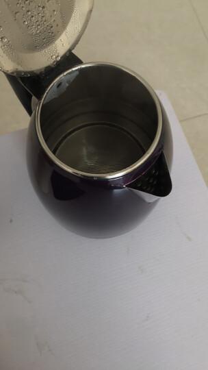 志高(CHIGO)ZJ18A电热水壶电水壶大容量保温烧水壶304不锈钢1.8L 深紫(双层防烫+快速沸腾+自动断电+两年换新) 晒单图