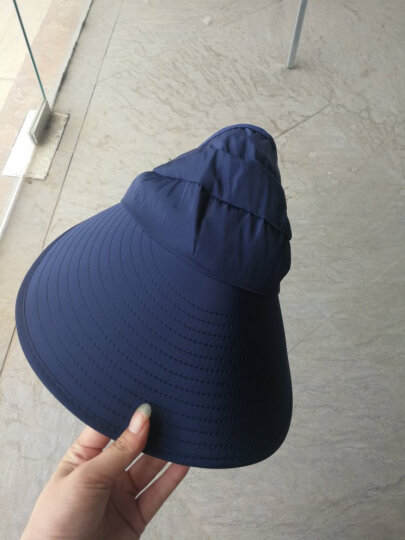 遮阳帽女士太阳帽防晒帽子夏天防紫外线户外骑行沙滩棒球帽韩版可折叠可调节大沿渔夫帽儿童 浅蓝带面纱款 晒单图
