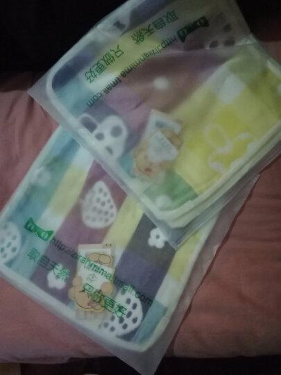 自然密码(ZIRANMIMA) 纱布口水巾婴儿洗脸毛巾新生儿用品宝宝小方巾儿童手帕绢 2条装小蘑菇手帕(26*26cm) 晒单图