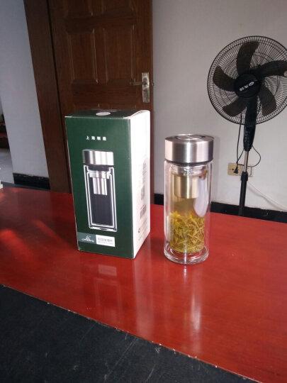 万象(WANXIANG)玻璃杯 V9 315ML双层耐热多功能茶叶储存盖 不锈钢杯盖 男女士时尚便携泡茶杯 金属灰 晒单图
