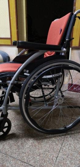 康扬轮椅折叠老人轻便KARMA避震铝合金便携式四轮代步车残疾人老年人手推车免充气KM-1502F24 舒弧305扶手后掀脚踏可拆轮胎可拆 晒单图