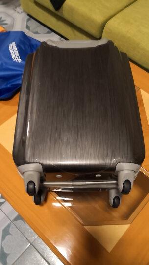 美旅拉杆箱 20英寸男女超轻大容量行李箱耐磨万向轮登机箱送箱套 密码锁旅行箱40T金属灰 晒单图