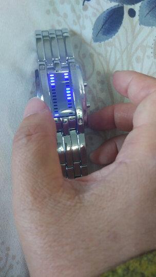 时刻美(skmei)手表男士运动电子表创意时尚腕表夜光防水七夕送礼男女情侣手表LED学生国产男表 1013黑色大号(防水) 晒单图