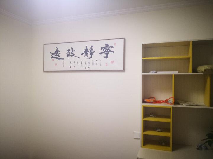 墨非 新中式装饰画现代客厅书房办公室励志书法字画挂画壁画 同舟共济竖版 150*50cm木色画框 晒单图