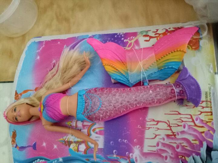 芭比娃娃套装礼盒女孩公主衣服鞋子换装儿童玩具礼物 【水中可发光】梦幻美人鱼DHC40 晒单图