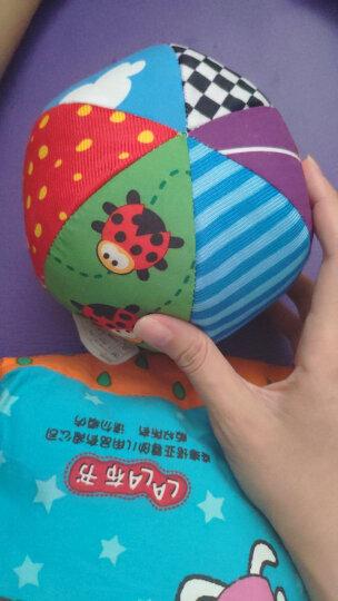 LALABABY/拉拉布书 布球 内置摇铃铃铛 0-3岁婴儿手抓球 布玩 六面球 晒单图