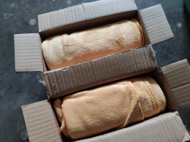 奥吉龙 洗车毛巾擦车布专用加厚吸水不掉毛大小号多功能刷车巾黄色小毛巾三条装 晒单图