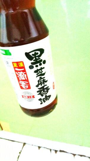 龙溪一滴香 黑芝麻香油 455ml/瓶 压榨黑芝麻油 调味凉拌菜烹饪火锅 晒单图