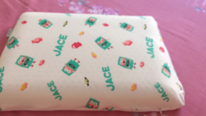 JaCe泰国原装进口儿童天然乳胶枕头 0-6岁双层枕芯 93%乳胶含量 礼盒装 晒单图