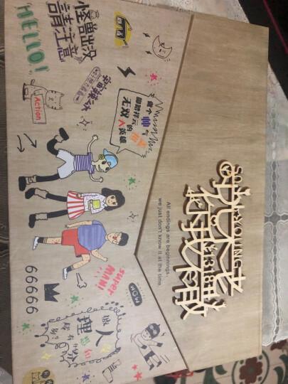 同学录盒装复古清新个性韩版唯美动漫毕业纪念册活页创意礼品文具木盒新款 送女友情人节礼物 信封款【三人】732 晒单图