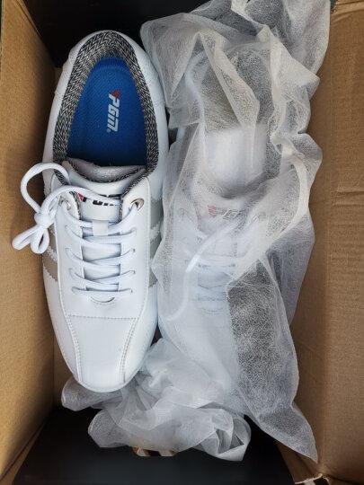 包邮 PGM正品 高尔夫球鞋 男士款运动鞋子 超轻固定钉防水休闲鞋 白银色 43码 晒单图