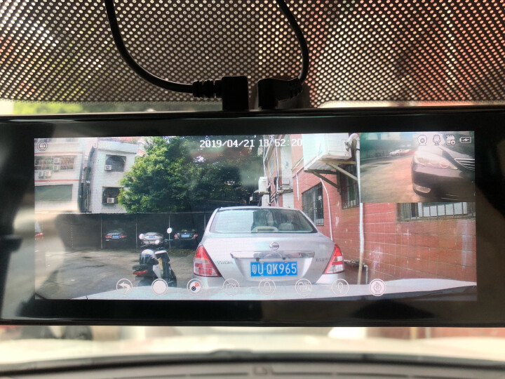 凌度 行车记录仪双镜头 高清夜视流媒体车载倒车影像一体机 电子狗导航智能后视云镜 8英寸触屏三镜三录+导航声控+32G卡(套餐七) 晒单图