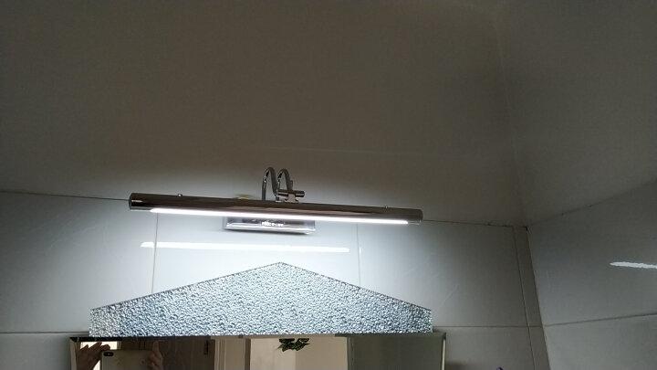 雷士(NVC)LED镜前灯 浴室防水防雾壁灯化妆灯卫生间壁灯 7W 白光6500K EMB9001 晒单图
