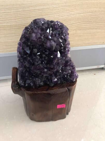 婧茹 天然紫晶洞聚宝盆摆件钱袋紫晶簇紫水晶洞块消磁家居办公水晶装饰品摆件 3.35-1 晒单图