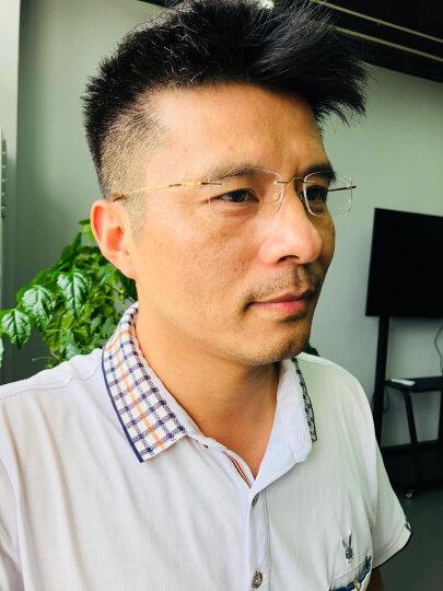 老爷子(LaoYeZi)老花镜男 远近两用超轻老花眼镜女 简约时尚款老人老光眼镜7010 高清银色单光 200度(56岁-60岁) 晒单图