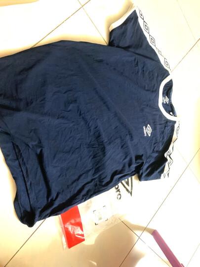 UMBRO茵宝男装运动休闲撞色圆领时尚潮流透气短袖T恤 UO182AP2501-505赛车红 L 晒单图
