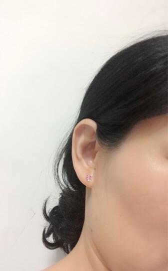 暖色采用施华洛世奇元素水晶耳钉韩版时尚魔方耳饰生日礼物礼物- 浅玫红 晒单图
