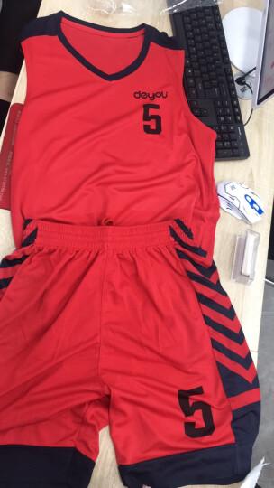 立腾 篮球服套装男 速干透气篮球运动背心 篮球球衣篮球队服diy定制印字 黑月亮-深紫 XL   适合  165-170CM 晒单图