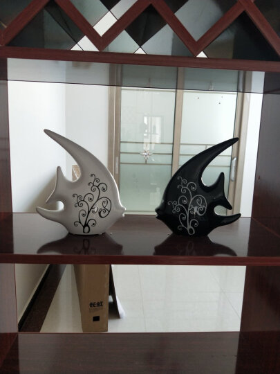 贝汉美(BHM) 创意客厅摆件装饰品 家居电视柜玄关红酒柜摆设陶瓷摆件工艺品 结婚礼物 对吻定情(加唇) 晒单图