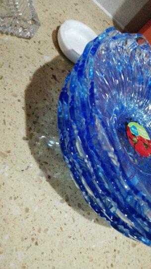茶花水果盘创意零食小吃托盘水晶干果盘糖果盘透明塑料果篮葵花盘 中号绿色 晒单图