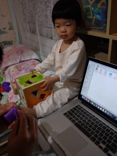 铭塔五子棋跳跳棋 大号木制质儿童益智玩具 双面便携早教盒装 晒单图