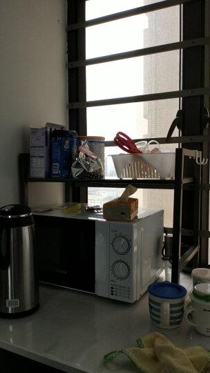 心家宜 厨房置物架 微波炉架子 烤箱架收纳架  调料架调味品架金属架 厨房用品锅架 【钢板】香槟金 1层 晒单图