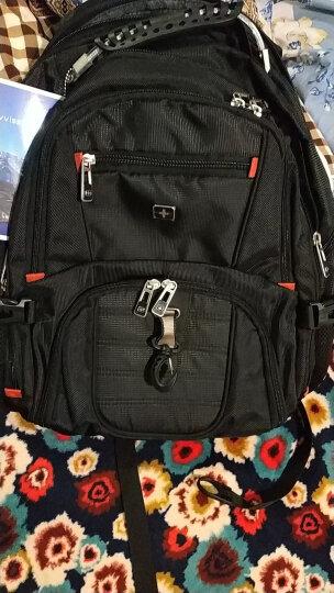 瑞士SWICKY瑞驰双肩包男背包男大容量15.6英寸16英寸电脑包书包韩版户外旅行休闲商务背包 黑色 大号升级版带USB接口 晒单图