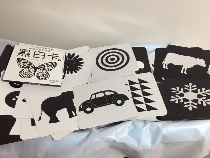 小小孩黑白卡 彩色卡 早教卡 0-1岁宝宝婴儿早教卡片启蒙认知 彩色卡2本 晒单图