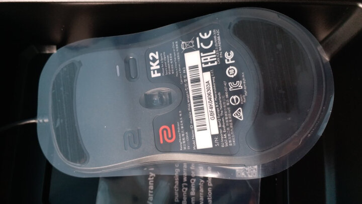 ZOWIE GEAR 卓威 奇亚 FK1+ 电竞游戏鼠标 有线鼠标 FPS CSGO/绝地求生/Apex鼠标 低背对称 黑色 晒单图