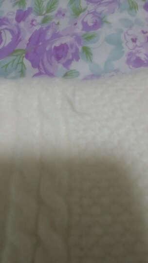 曼佳莱套头毛衣女2018秋冬新款宽松毛衣外套女麻花短款打底针织衫厚休闲毛线上衣女 米白 均码 晒单图