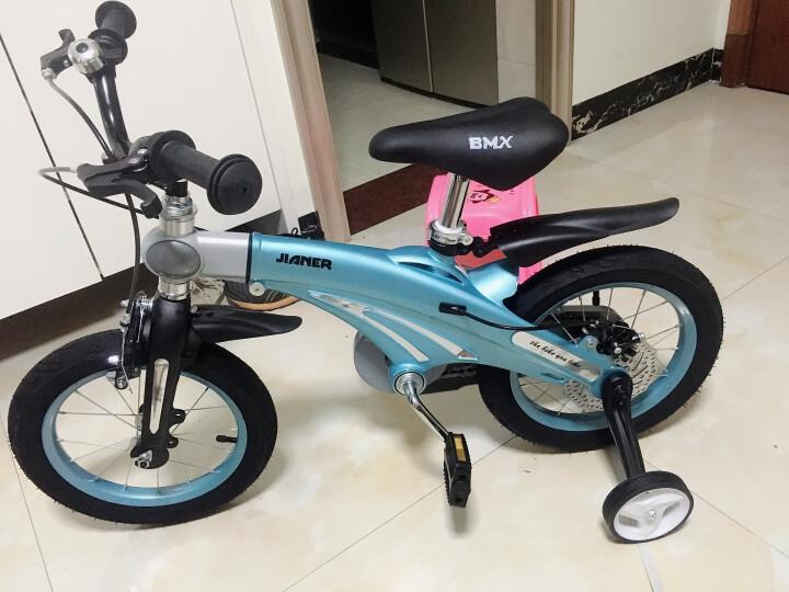 健儿(jianer) 儿童自行车男女小孩单车【可加长】 公主粉【镁合金| 后轮碟刹】16寸 晒单图