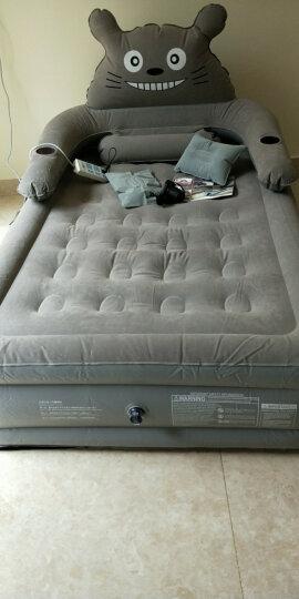 曼芙雅卡通龙猫懒人沙发床可拆卸靠背简易单人充气床植绒加厚双人气垫床家用户外折叠床垫 三层单人190*120*44cm 送充气泵+礼包 晒单图