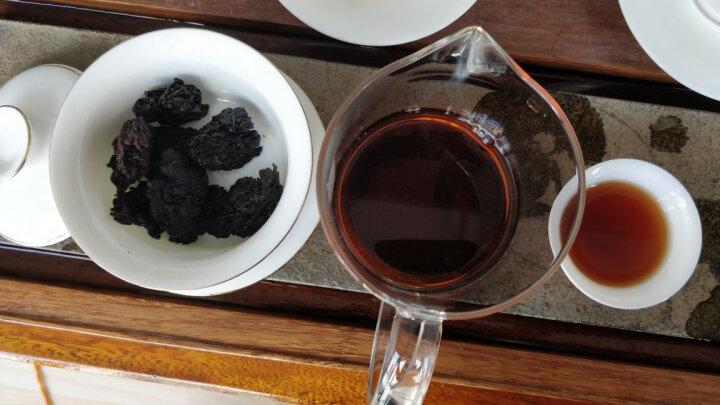 宫明普洱茶 茶叶 2009年冰岛古树醇香老茶头 熟普洱散茶500g 云南普洱熟茶木桶礼盒装 黑茶送礼 晒单图