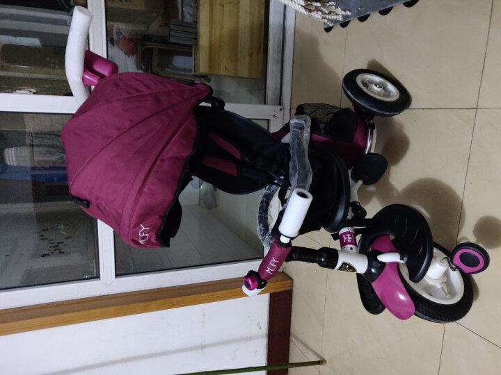 小虎子儿童三轮车脚踏车儿童自行车溜娃神车可折叠遛娃车小孩手推车1-3岁T300升级 星际蓝(现货) 晒单图