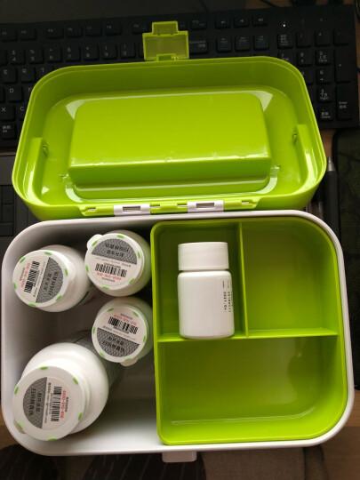亿高 EKOA 药箱家庭医药收纳箱子分格急救箱多功能收纳盒子苹果绿 晒单图