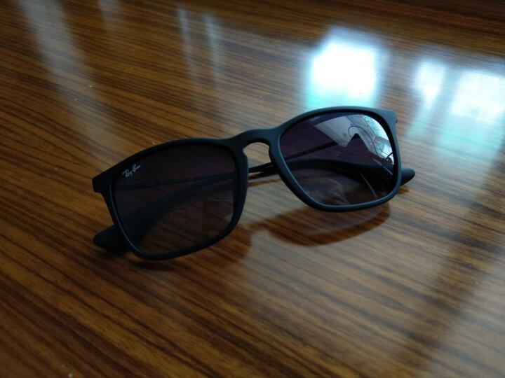 RayBan 雷朋太阳眼镜男女款方形舒适简约潮流渐变色0RB4187F可定制 6315E8茶色镜框茶色渐变镜片 尺寸54 晒单图