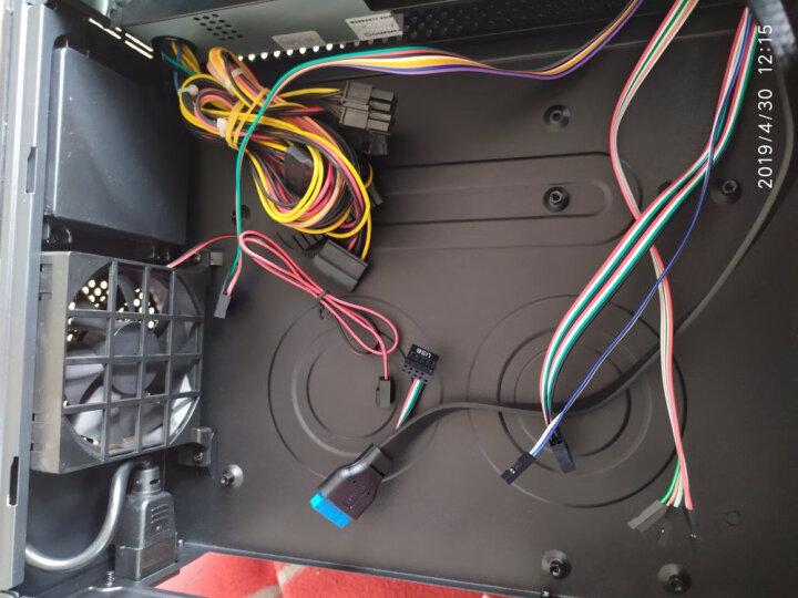 游戏帝国(GAMEMAX)小精灵 黑色 桌面电竞htpc主机箱(支持micro主板/U3/读卡器/配风扇/配额定230W电源) 晒单图