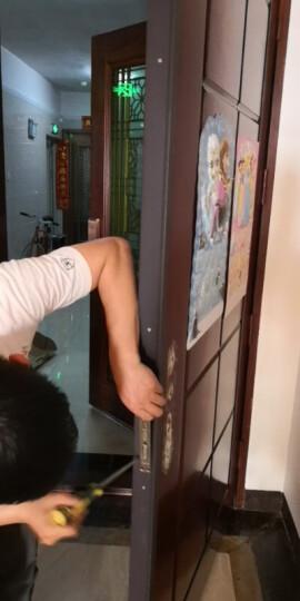 VOC指纹锁家用防盗门智能锁大门通用型门锁木门电子锁密码锁T77F 红古铜【三年质保+免费安装+白条免息】 晒单图