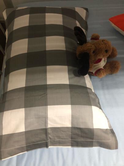 九洲鹿 枕套家纺 全棉枕套 斜纹枕头套枕芯套 品格灰 一对装 48*74cm 晒单图